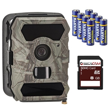 100 Grad Wildkamera / Überwachungskamera SecaCam HomeVista Full HD, Weitwinkel, 12 MP - Premium Pack -