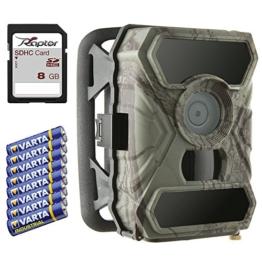 52 Grad Wildkamera / Überwachungskamera SecaCam RAPTOR Full HD, 0,4s Auslösezeit, 12 MP - Premium Pack -