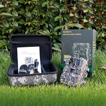 TEC.BEAN 12MP 1080P HD Wildkamera mit 120 Grad Weitwinkel, 940nm No-Glow Infrarot Fotofalle, 23m Nachtsicht, Wasserdicht IP66, 2,0 Zoll LCD-Display -