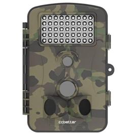Wildkamera CCbetter 2,4 Zoll 12 Megapixel (12 MP) 1080P HD 120 Grad Weitwinkel wasserdichte IP54 Kamera mit 42 PC IR LEDs für Nacht Vision ... -