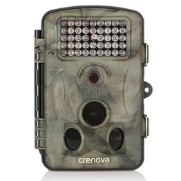 """Crenova 12MP 1080P HD Wildkamera 120° Breite Vision Infrarote 20m Nachtsicht 2.4"""" LCD Jagdkamera Jagdzeug Überwachungskamera -"""