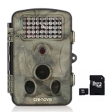 """Crenova 12MP 1080P HD Wildkamera mit 16GB SD-Karte 120° Breite Vision Infrarote 20m Nachtsicht 2.4"""" LCD Jagdkamera Jagdzeug Überwachungskamera. -"""