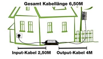 Netzteil Wasserdicht, 12V 2A, 6,50m Kabellänge, Netztteil Wild-Vision -