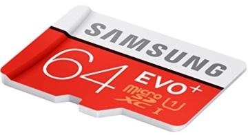 Samsung Speicherkarte MicroSDXC 64GB EVO Plus UHS-I Grade 1 Class 10, für Smartphones und Tablets [Amazon Frustfreie Verpackung] -