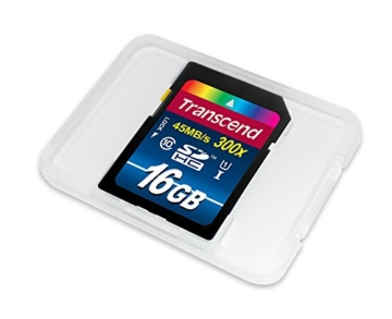 Transcend TS16GSDU1 Class 10 Premium SDHC 16GB Speicherkarte UHS-I (Amazon frustfreie Verpackung) -