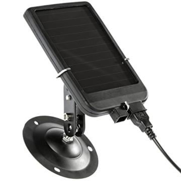 Ultrasport UmovE Solar Panel, Ladegerät für Überwachungskamera/Wildkamera für Secure Guard Ready und Pro Ready -