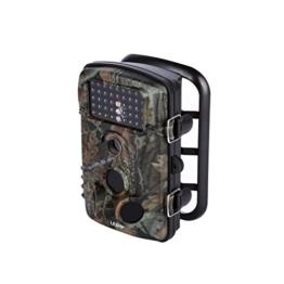 Wildkamera LESHP 2,5 Zoll 12 Megapixel (12 MP) 1080P HD 120 Grad Weitwinkel wasserdichte IP54 Jagdkamera mit 42 PC IR LEDs Nacht für Wild Tiere -
